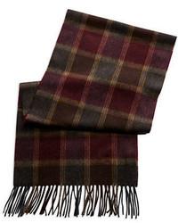 Black Brown 1826 Cashmere Plaid Scarf