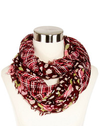 jcpenney Mixit Mixit Plaid And Floral Infinity Scarf