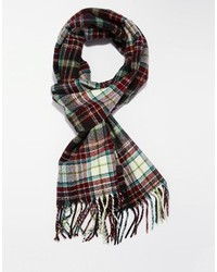 Esprit Plaid Scarf Burgundy