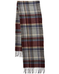 Black Brown 1826 Plaid Scarf