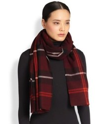 Burberry Plaid Wool Scarf