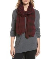 Plaid wool scarf medium 4950751
