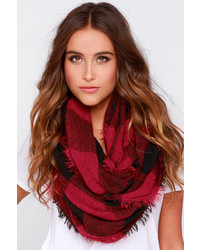 Roll Tide Burgundy Plaid Infinity Scarf