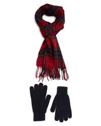 Barbour Tartan Wool Scarf Gloves Set