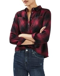 Topshop Buffalo Check Shirt