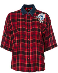Diesel Check Flower Appliqu Shirt