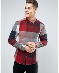 Esprit Shirt In Regular Fit In Bold Check Brushed Cotton