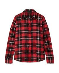 Marc Jacobs Plaid Silk De Chine Shirt
