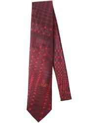 Vivienne Westwood 85cm Asymmetric Plaid Silk Jacquard Tie