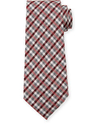 Plaid woolsilk tie medium 826379