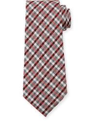 Tom Ford Plaid Woolsilk Tie