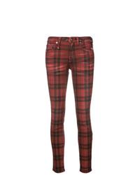 R13 Kate Tartan Skinny Jeans