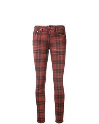 R13 Plaid Kate Skinny Jeans