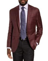 David Donahue Connor Classic Fit Plaid Wool Sport Coat