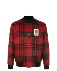 Kent & Curwen Checked Bomber Jacket