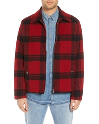The Kooples Classic Fit Plaid Wool Trapper Jacket