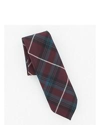 Burgundy Plaid Wool Tie