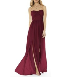 Social bridesmaids strapless georgette gown medium 1041445