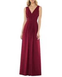 Social bridesmaids v neck georgette gown medium 1041444