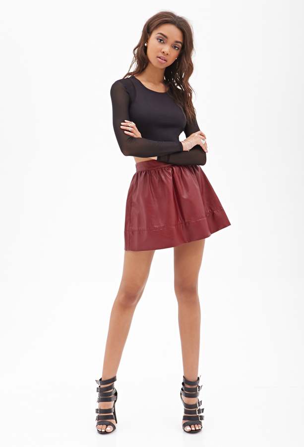 Forever 21 Faux Leather Mini Skirt | Where to buy & how to wear