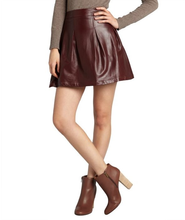 liberty oxblood harvard pleated skirt where to buy