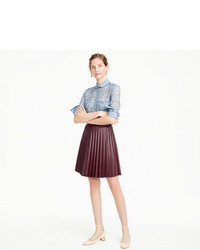 1c1de3a0697 ... J.Crew Petite Faux Leather Pleated Mini Skirt