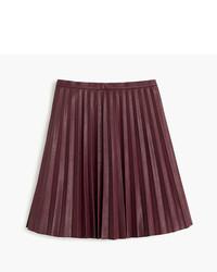 Petite faux leather pleated mini skirt medium 754142