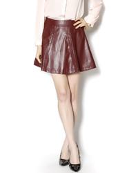 Ya Vegan Leather Skirt