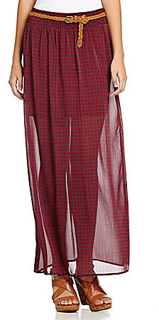 Soulmates Belted Maxi Skirt