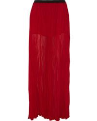 Enza Costa Crinkled Chiffon Maxi Skirt