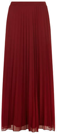 Dorothy Perkins Dark Red Mesh Pleat Maxi Skirt | Where to buy ...