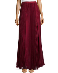 Pleated maxi skirt red medium 156931
