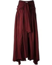 Rosie Assoulin Voluminous Pleated Maxi Skirt