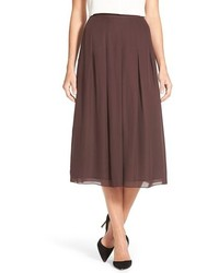Pleat silk midi skirt medium 369418
