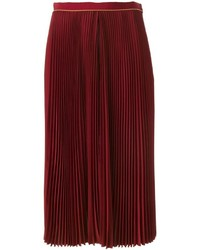 Sacai luck insert layer pleated midi skirt medium 369420