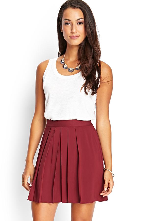 9408052dd Forever 21 Contemporary Pleated Mini Skirt, $19   Forever 21 ...
