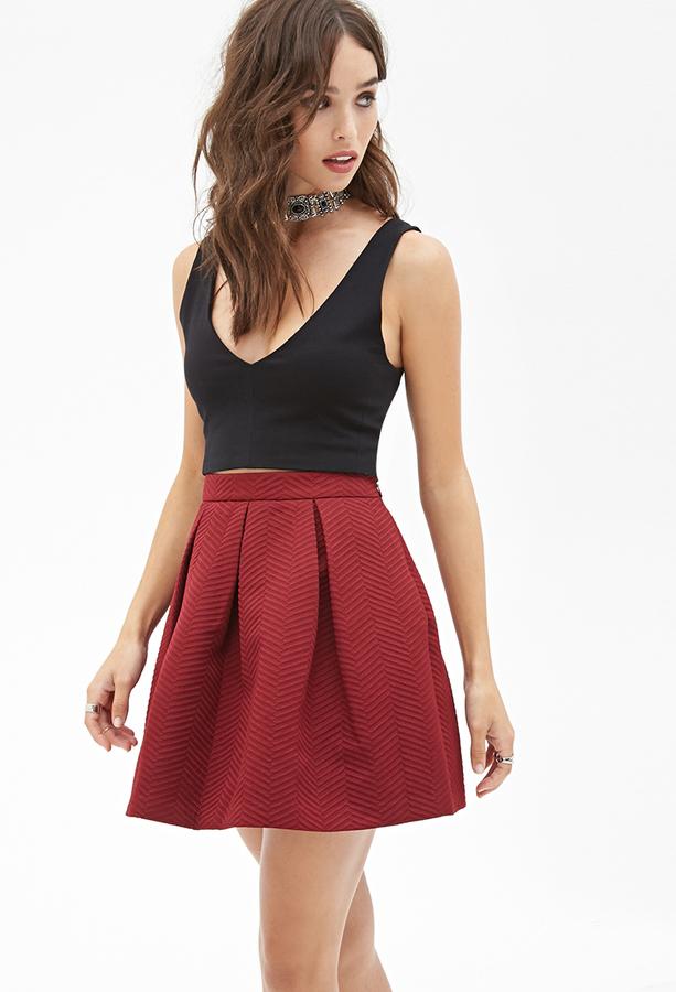 burgundy pleated mini skirt forever 21 pleated a line skirt