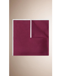 Burberry Contrast Border Silk Pocket Square