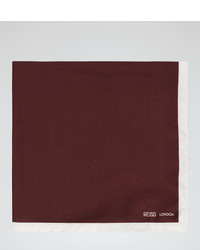 Reiss Icarus Piped Silk Pocket Square