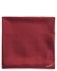 Lanvin Silk Pocket Square Red
