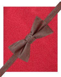 Alfani Nailhead Pre Tied Bow Tie Pocket Square Set