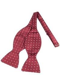 Forzieri Polkdot Silk Self Tie Bowtie