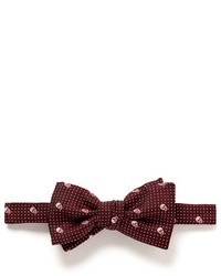 Nobrand Silk Skull Dot Bow Tie