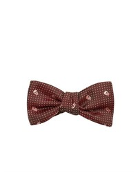 Alexander McQueen Skull And Pin Dot Jacquard Bow Tie