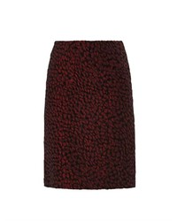 Wine jacquard pencil skirt medium 178532