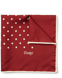 Burgundy Polka Dot Pocket Square