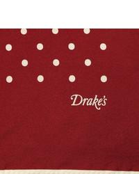Drakes Drakes Silk Polka Dot Pocket Square
