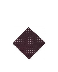 Michelsons of london polka dot silk handkerchief burgundy medium 469677