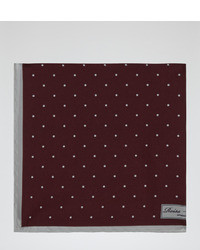 Reiss Garbo Silk Polka Dot Pocket Square