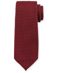 Micro dot print silk tie medium 826366